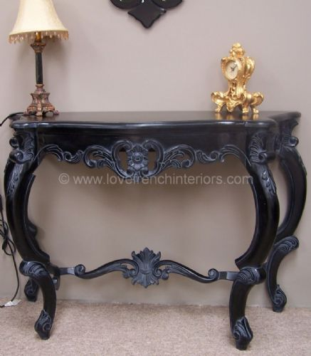 Console Table in Noir Black